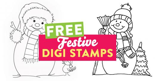 Festive digi stamps