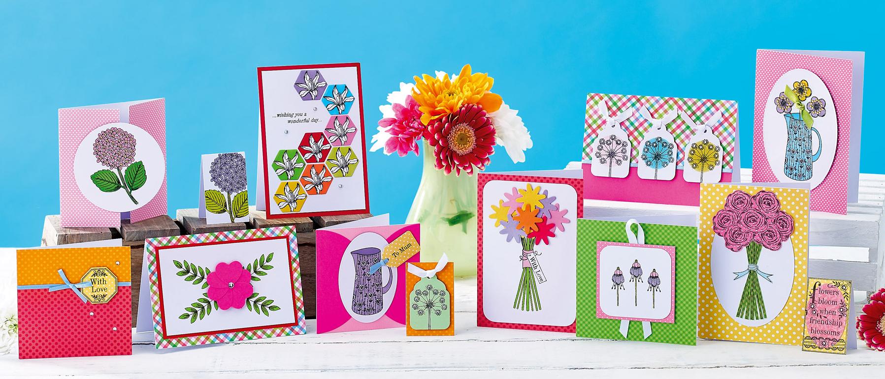 Free flower digi stamps