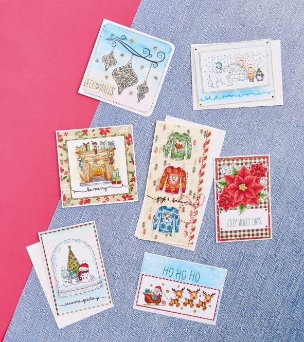 Hunkdory Christmas Digi Stamp Cards