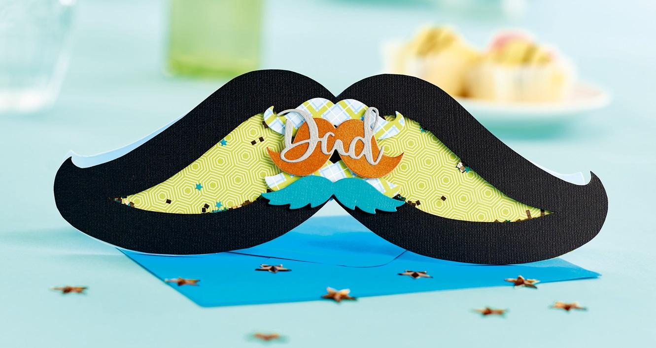 Moustache shaker card