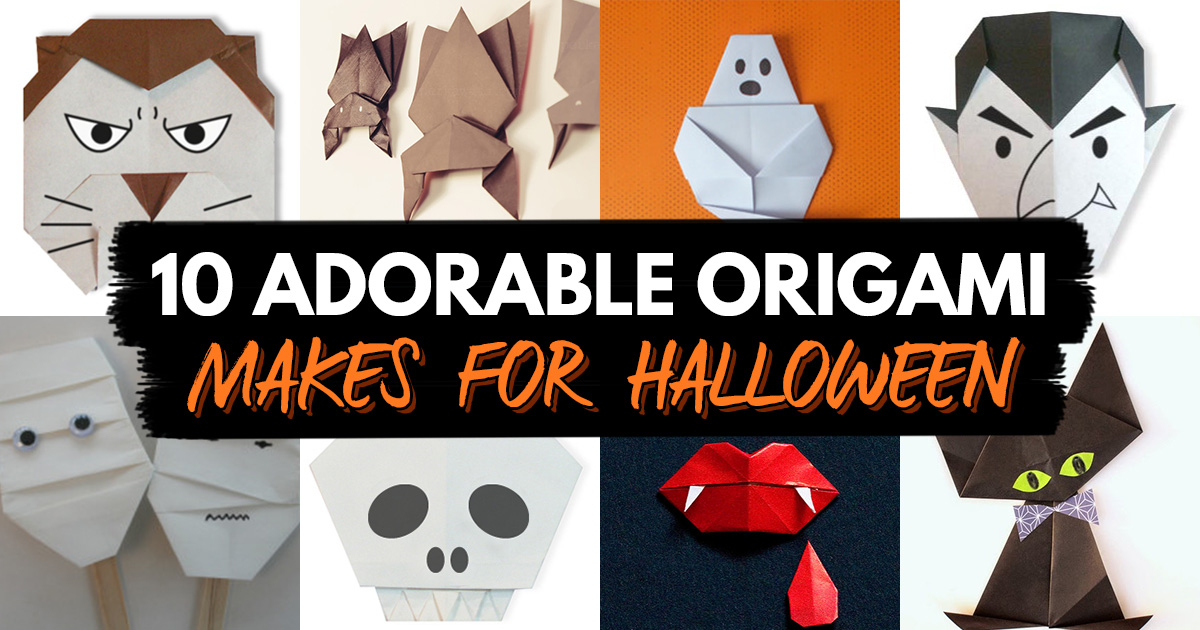 Halloween - How to Fold an Origami Spider or Bat Candy Box | 630x1200