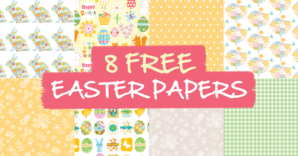 8 free easter papers paper craft download