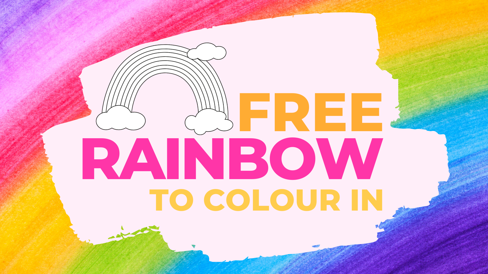 Free Rainbow To Colour In Paper Craft Download