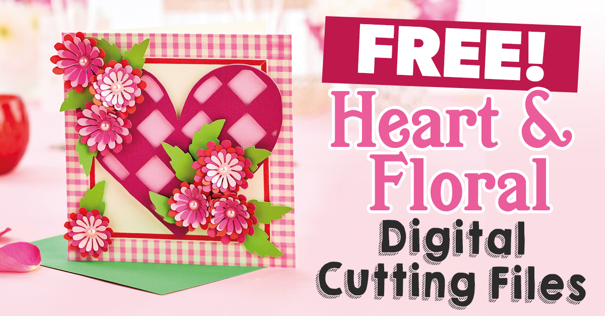 Free Heart And Floral Svg Cutting Files Paper Craft Download