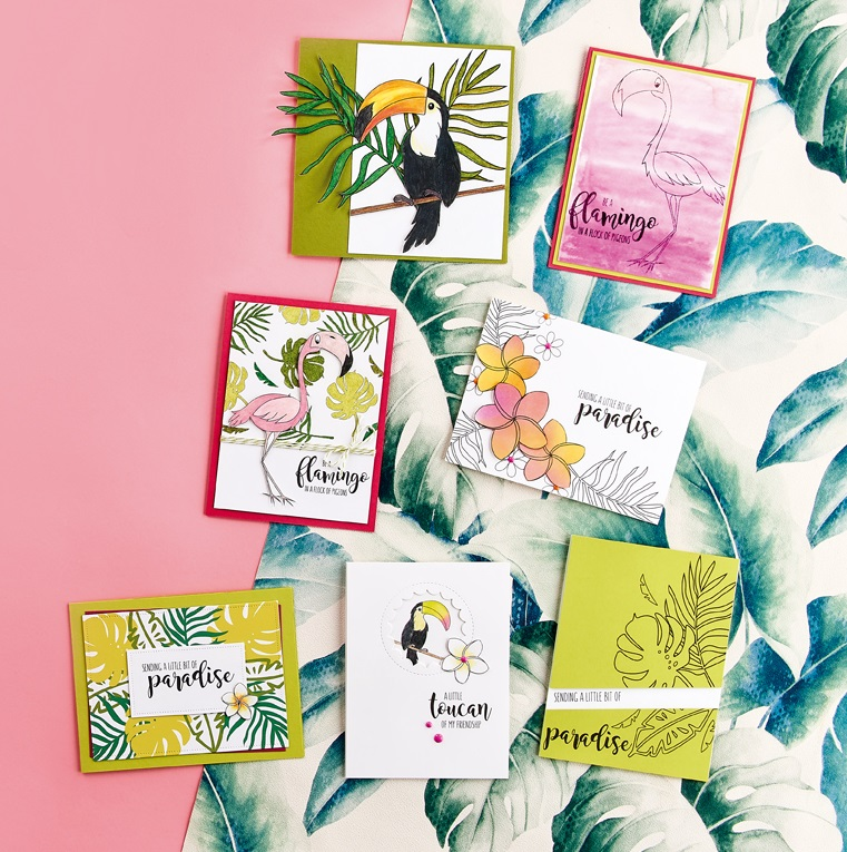 Tropical Digi Stamp Cards