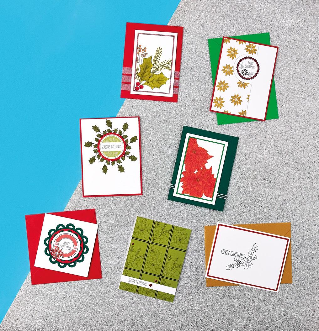 Winter Botanical Digi Stamp Cards