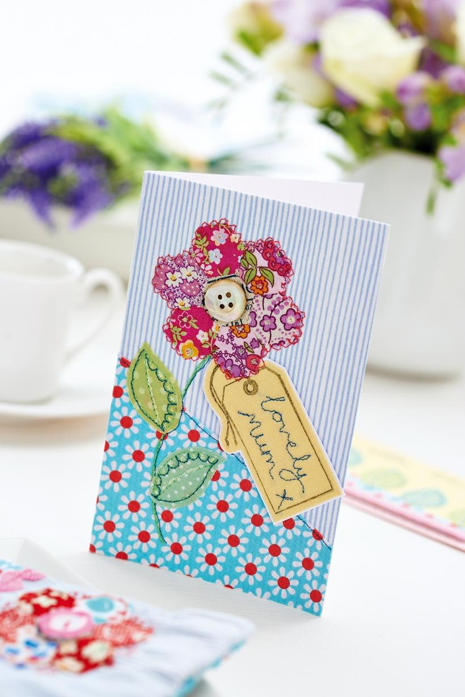 stitched flower