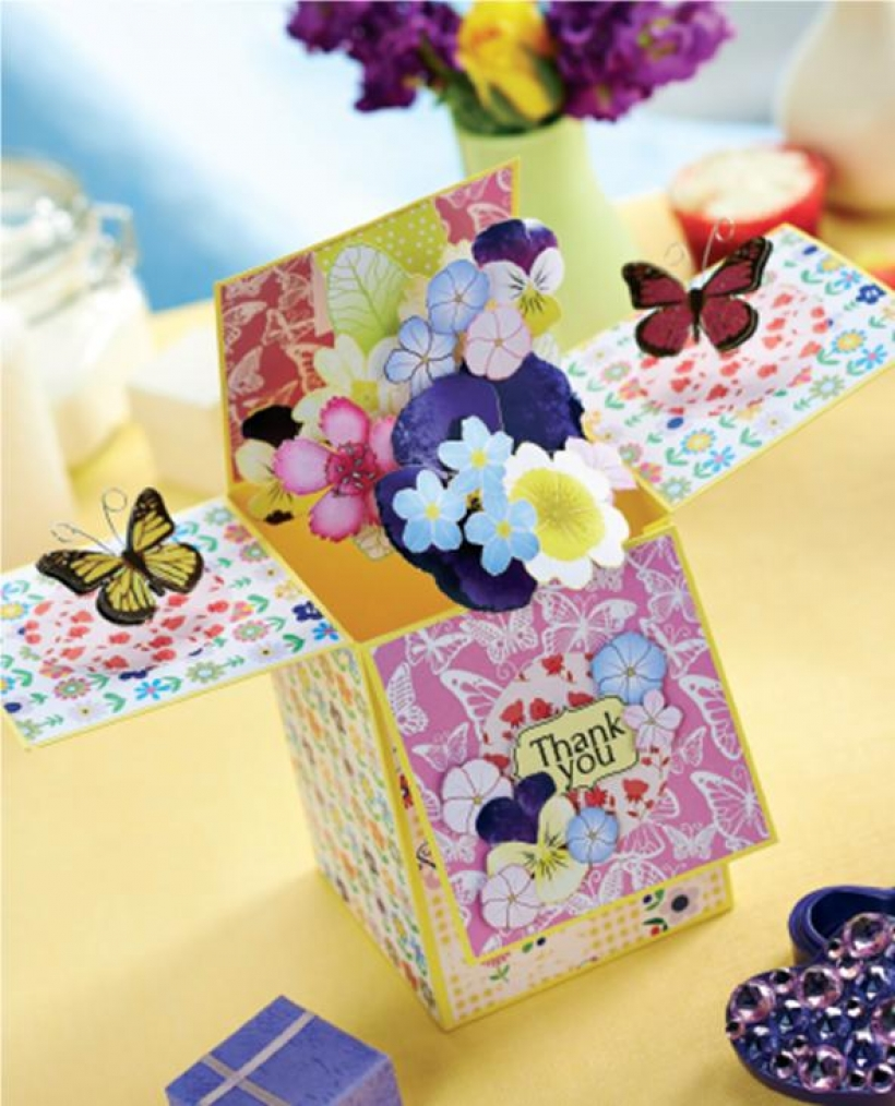 Floral box card